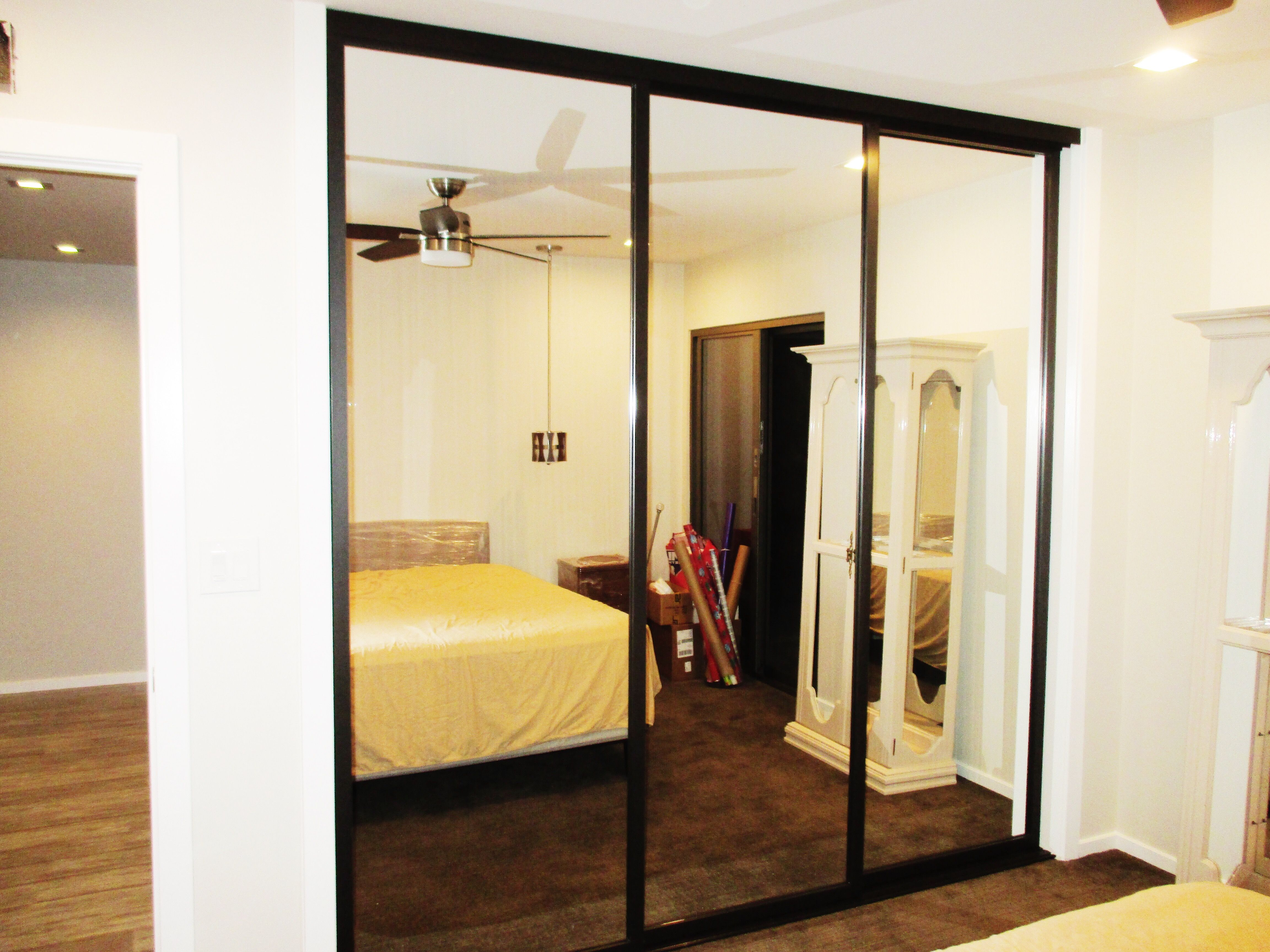 This Is A 3 Panel 3 Track Sliding Closet Door With A Java Frame