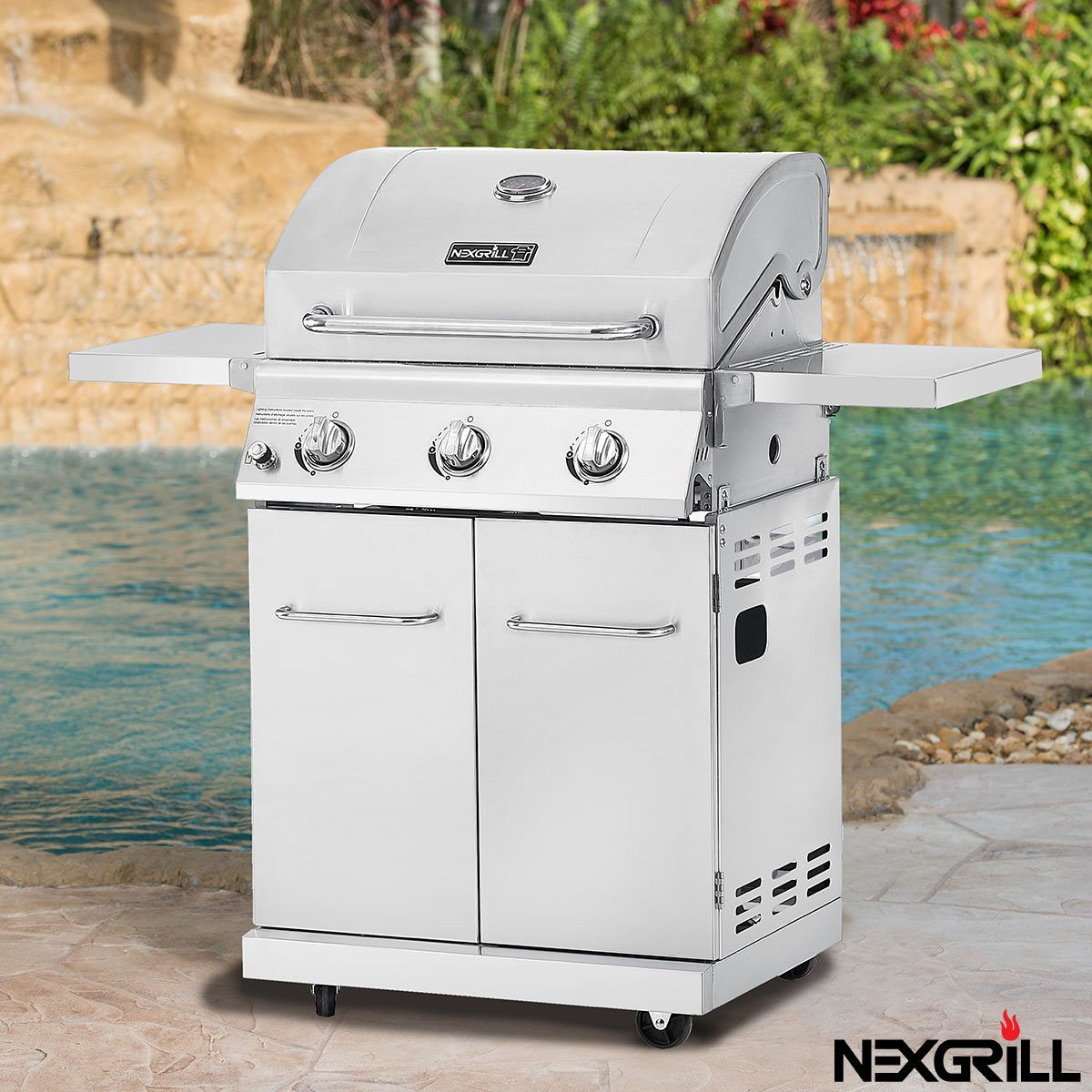 Nexgrill 3 Burner Stainless Steel Gas Barbecue Cover Costco Uk Gas Bbq Grilling Bbq Grill