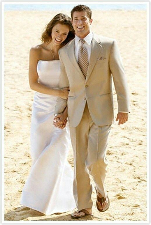 Groom Best Man Formal Light Brown Beach Wedding Suit Ideas For Men ...