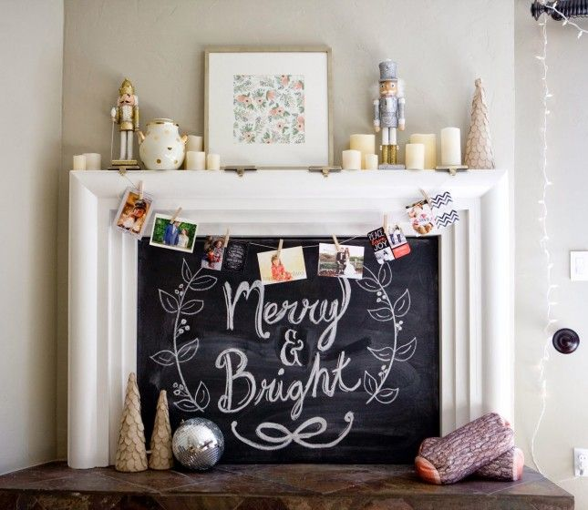 Love this idea for a chalkboard fireplace. | For The Home from ...