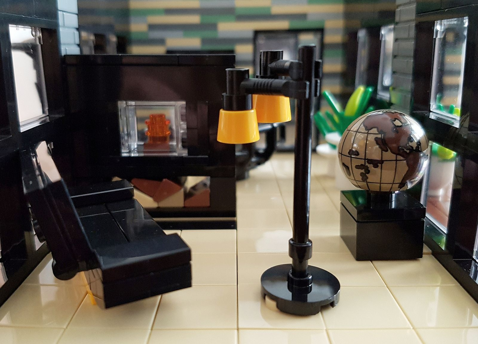 Shallow Water House Moc Sofa Lamp And Fire Place Water House Lamp Floating House