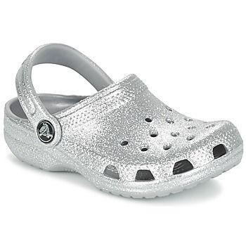 fdd970ef3391f4 Chinelos   Tamancos Crocs Clsc Sparkle Clg K Prateado 350x350
