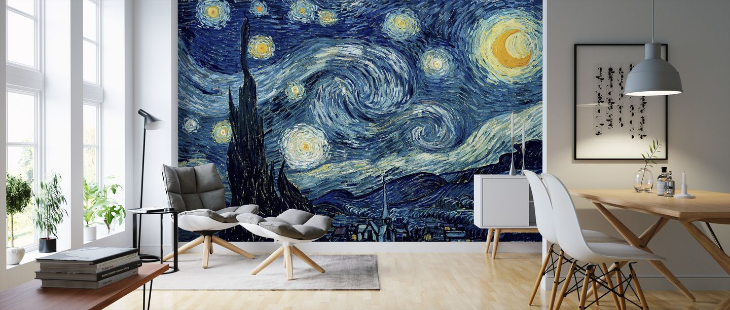 Vincent Van Gogh Starry Night A Wall Mural For Every Room