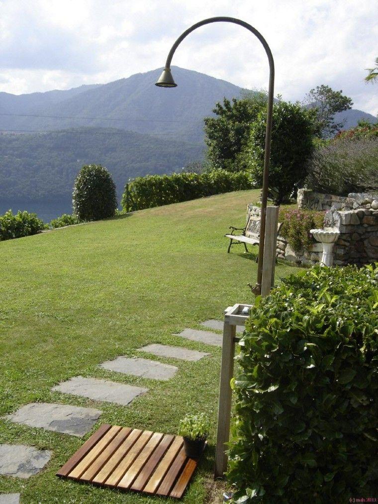 Duchas para el jard n cincuenta ideas fant sticas y for Jardineria al aire libre casa pendiente