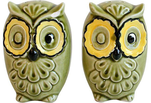 <3 Kelvins Owl Salt & Pepper Shakers