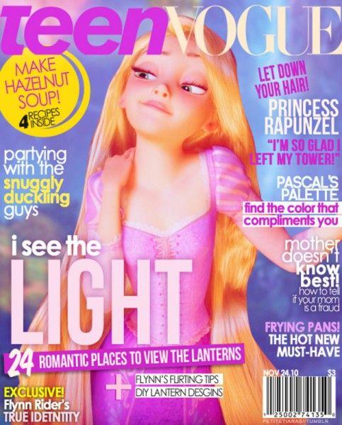 Teen Vogue. Rapunzel...too cute. All my daughter.