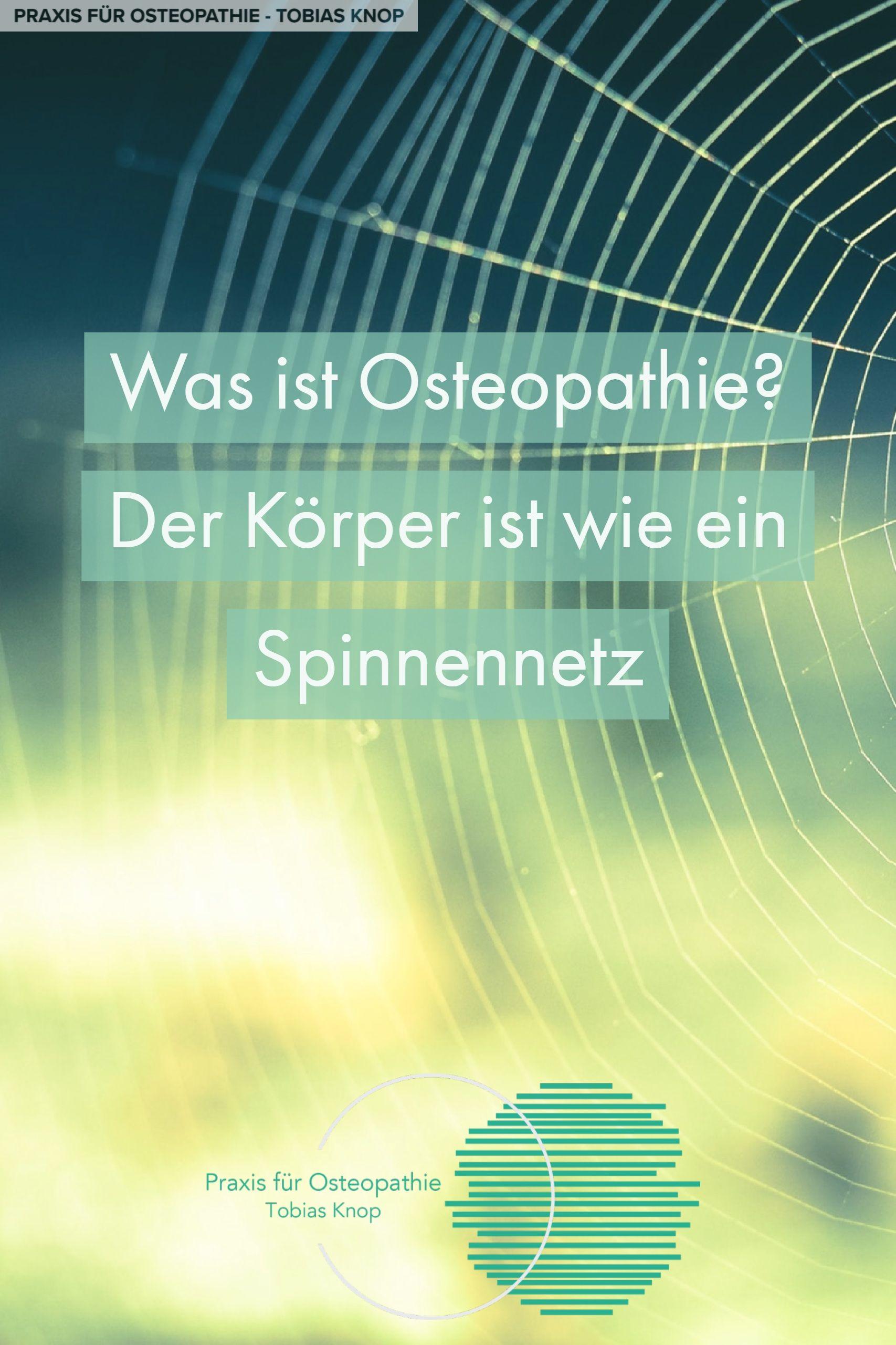 Osteopathie ist eine ganzheitliche Heilkunde, welche auf ...