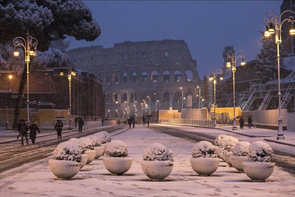 Maltempo neve a Roma, la città imbiancata Città, Roma