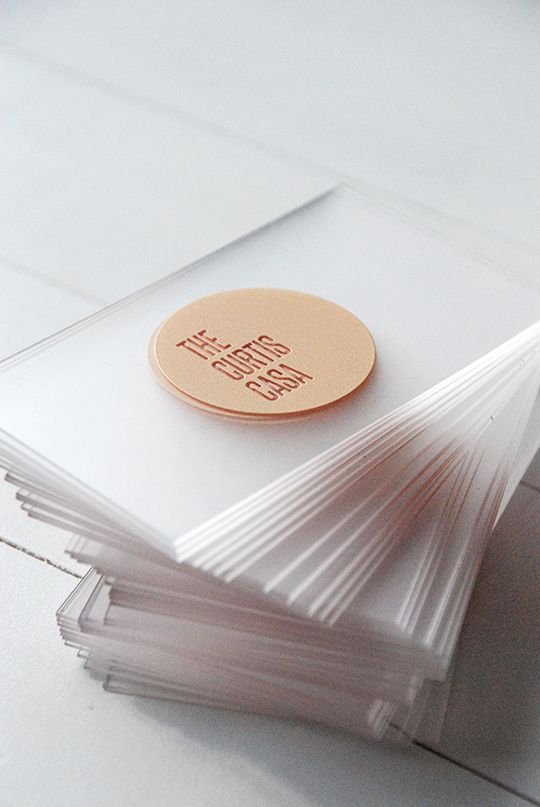 Repinned | Marketing Material Inspiration. Business cards, look books, leaflets etc. Acrylic Business Cards, Awards Atlanta Company.