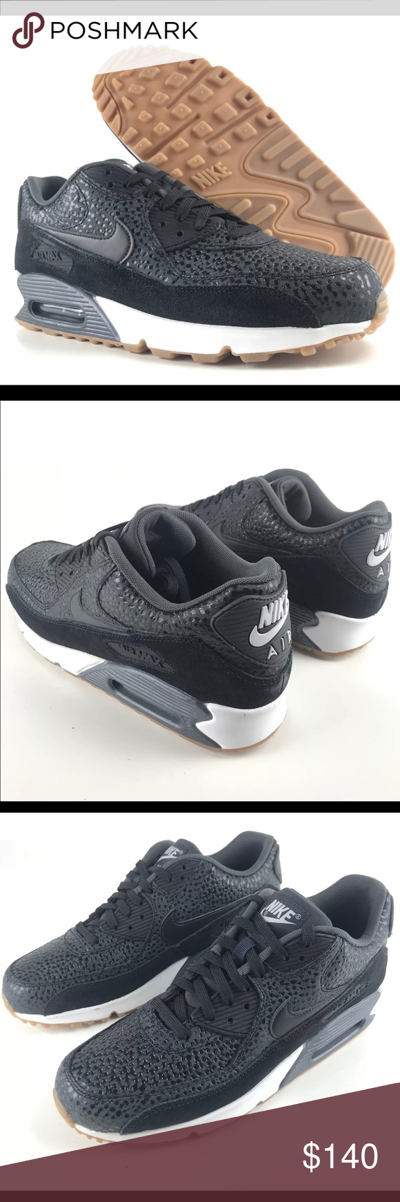 5a0bf55ef174 Nike Air Max 90 Premium Black Safari Gum Bottom Nike Air Max 90 Premium  Black Safari Gum Bottom Size 12 US Women s 443817 Rare Brand new