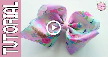 "Jojo Siwa (Jumbo Boutique 3"") Ribbon Bow Tutorial DIY by Elysia Handmade"