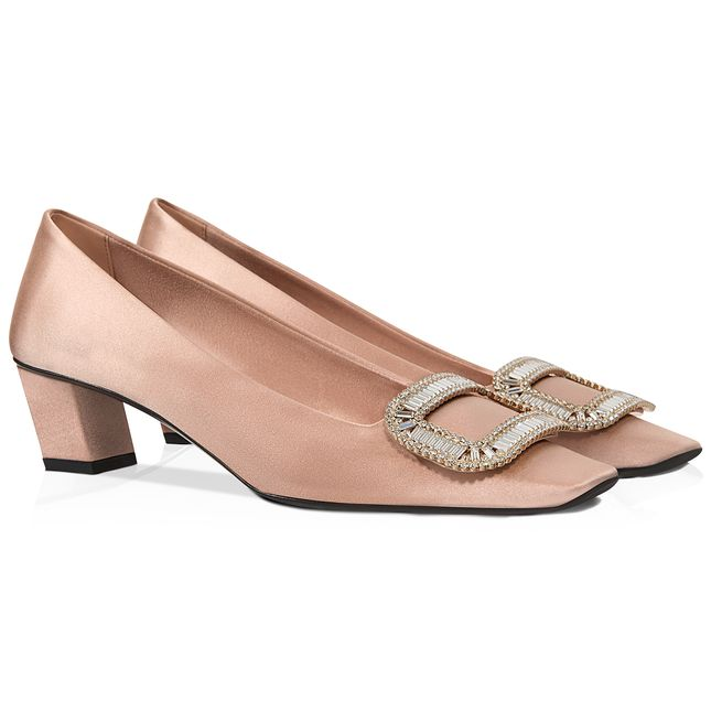 Belle Vivier Pumps in Silk Satin Roger Vivier r0HTtlkPFC