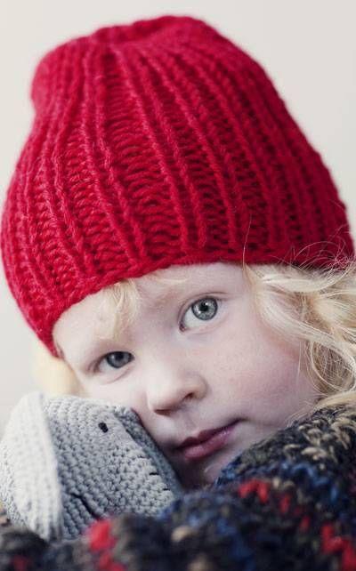 Lapsen neulottu joustinpipo Novita 7 Veljestä   Novita knits