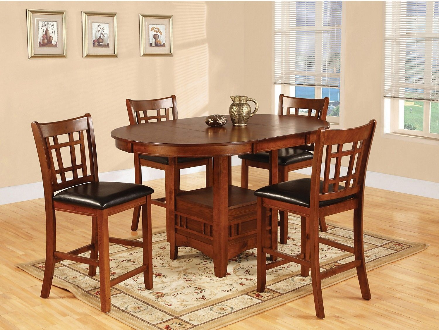 Dalton 5 Piece Oak Counterheight Dining Package  Bricks Mesmerizing Single Dining Room Chairs Inspiration Design