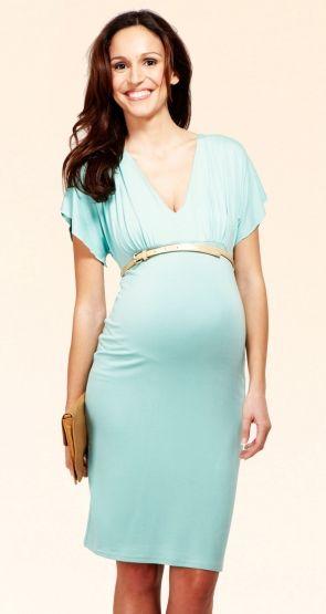 Robe vert d'eau femme enceinte