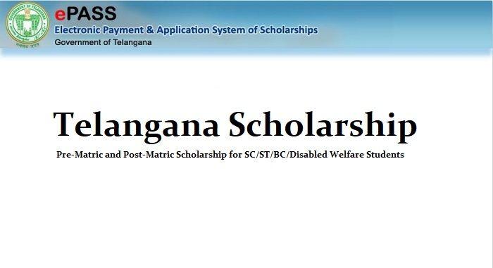 Telangana Scholarship 2019 20 Ts Epass Eligibility Application Process Scholarships Scholarships Application Student