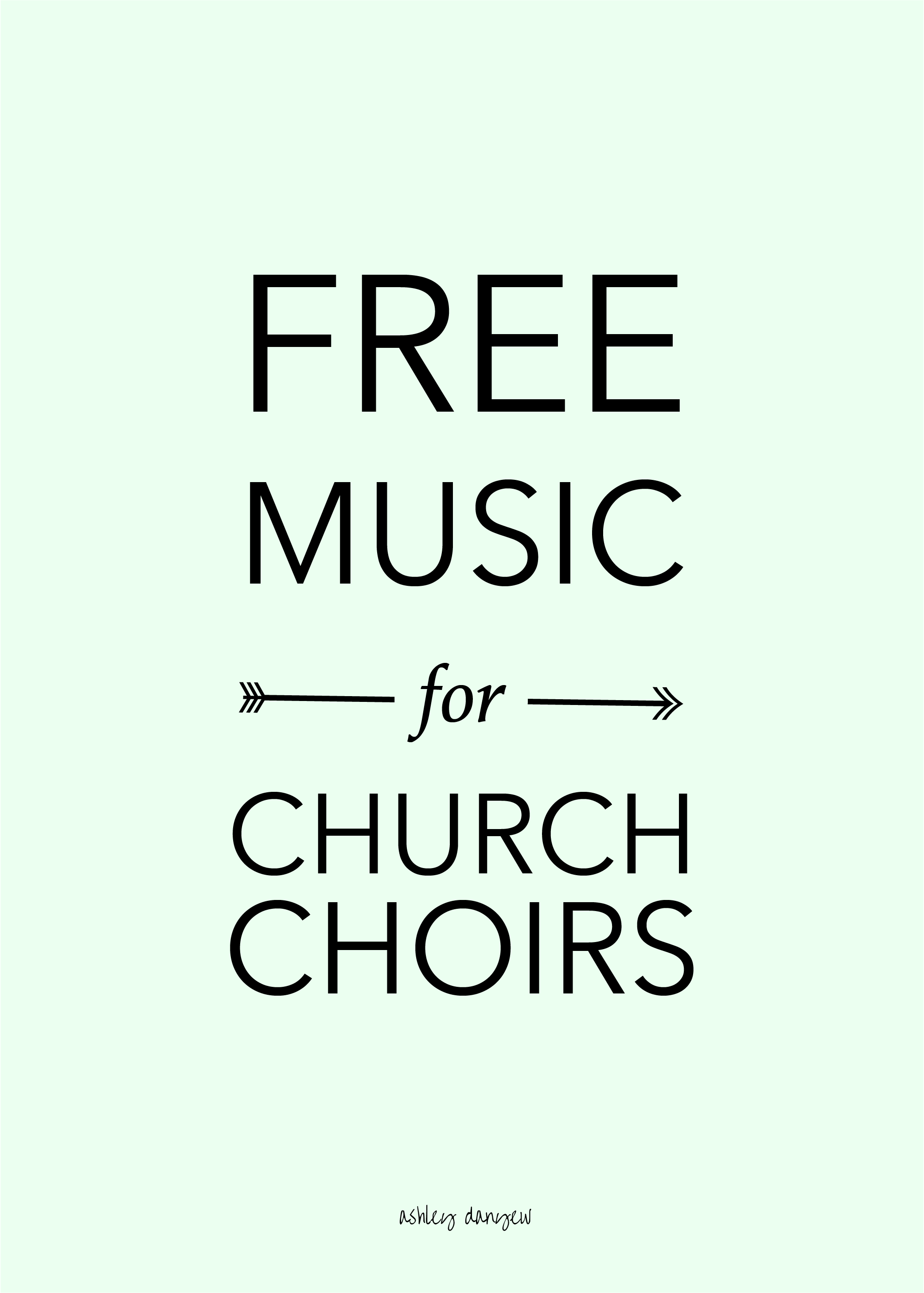 Free Music For Church Choirs