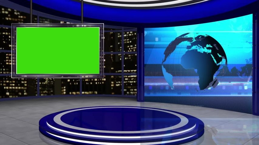 News Tv Studio with Virtual Stock Footage Video (100% Royalty-free) 1032877817 | Shutterstock