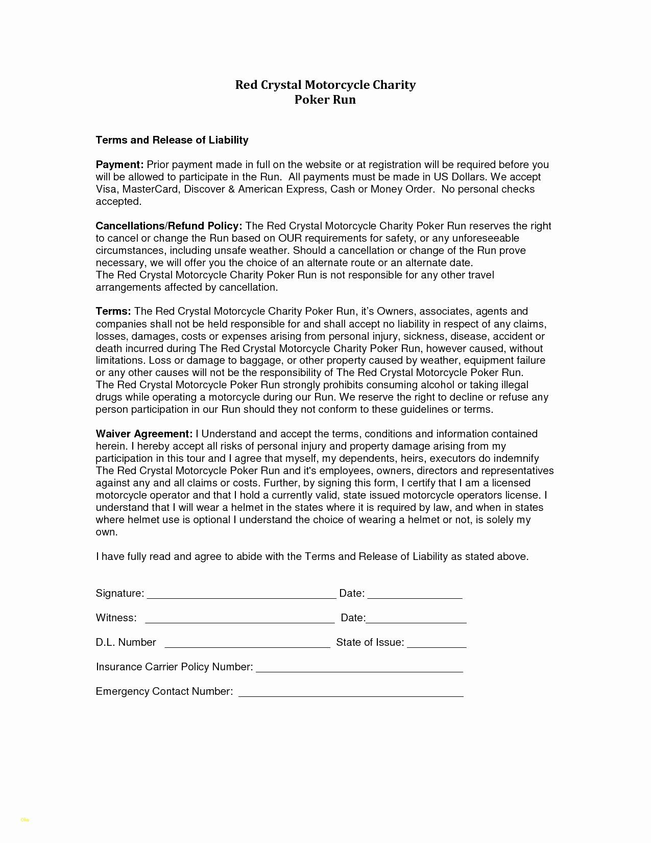 Best Of Insurance Waiver Form Template In 2020 Liability Waiver