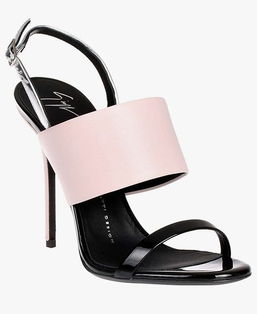 Giuseppe Zanotti pink and black sandals.
