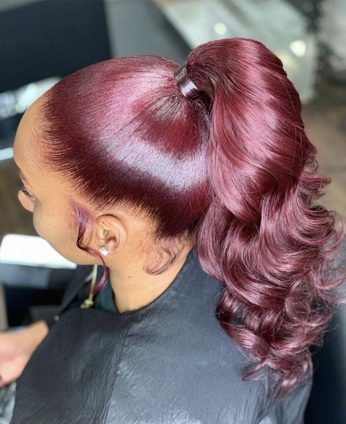 Ponytail 😍 High ponytail hairstyles, Ponytail styles