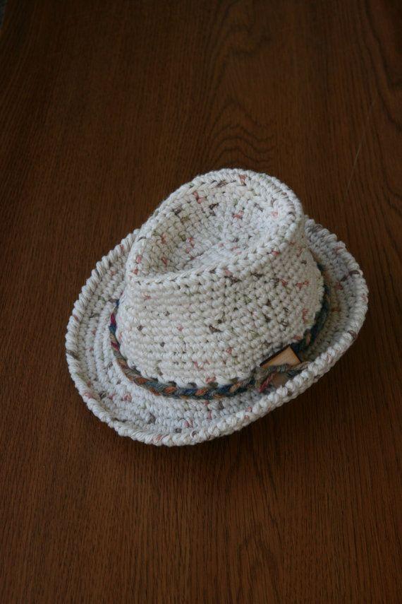 Baby Fedora Hat Newborn Crochet Fedora Photography Props Baby Boy ...
