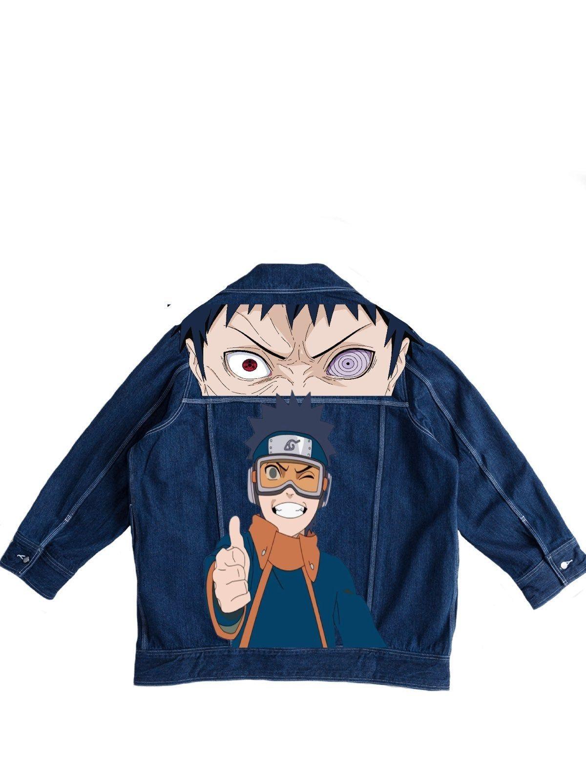 Custom obito naruto denim jacket in 2020 anime inspired