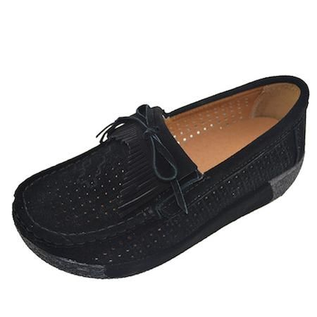 ebay o16u women flat platform loafers ladies suede