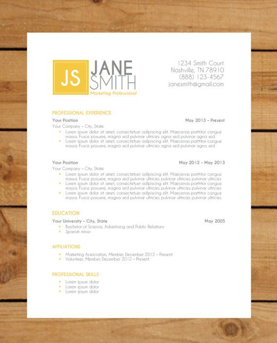Resume Template Package | Instant Download | Microsoft Word Document ...