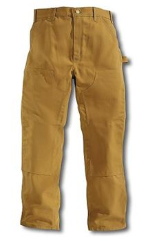 Round House American Made Double Front Dungarees Brown Duck For