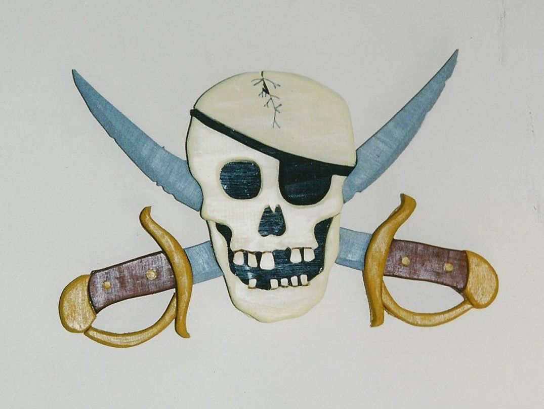 Sword Wall Plaques Pirate Skull And Swords Wall Plaque Wood Work