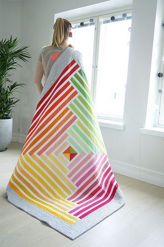 What refreshing colors!  I love modern quilting, especially with solid fabrics.  #quilting #modernquilting #solidfabric