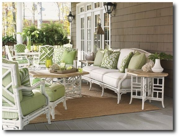 Merveilleux White Bamboo Outdoor Furniture, I Like This For The Porch