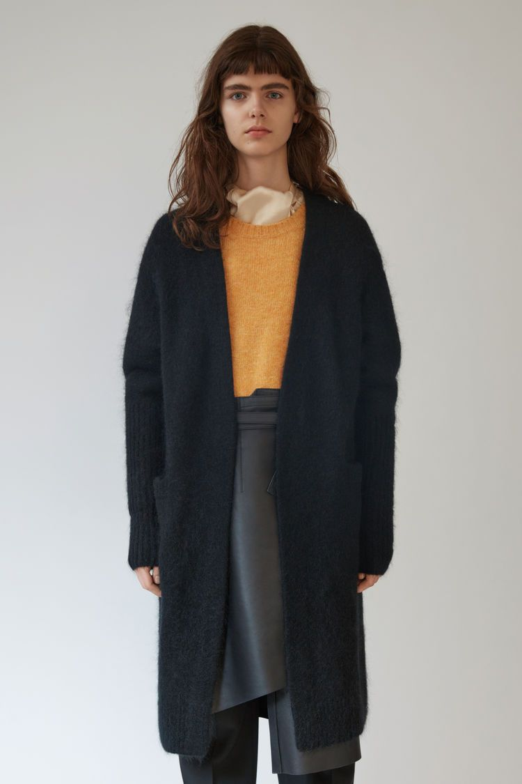 Acne Studios Raya Mohair black is a fully fashioned, kimono sleeve ...