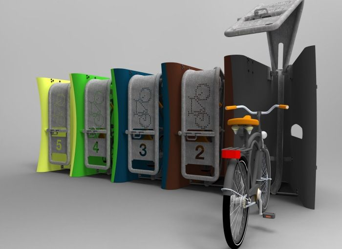 Wave Secure Modular Bicycle Parking By Joe Mattley At Coroflot