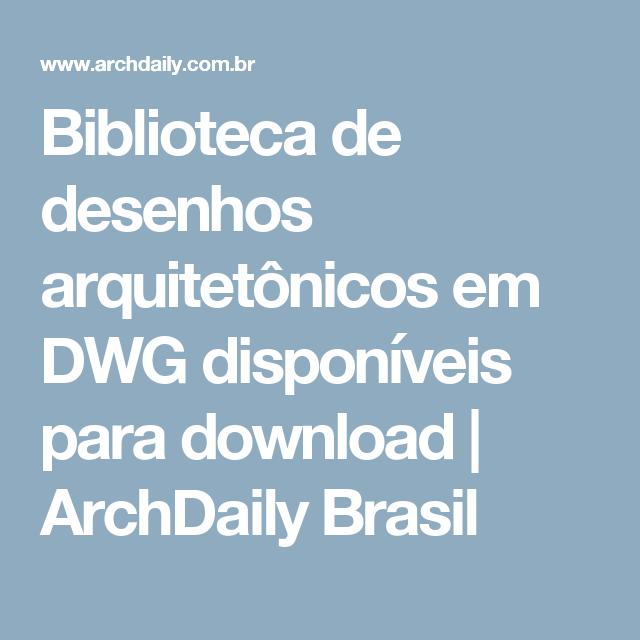 AUTOCAD BIBLIOTECA DE GRÁTIS BLOCOS DOWNLOAD