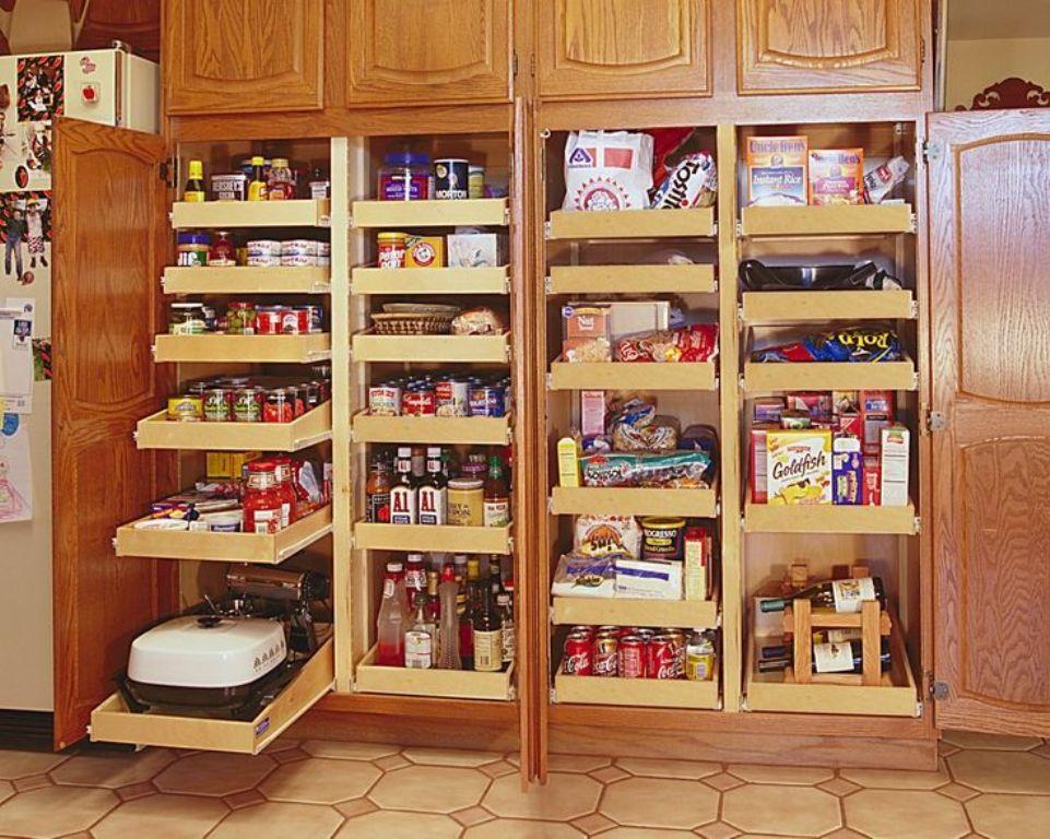 Medium Oak Pantry Cabinet