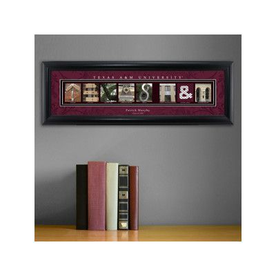 JDS Personalized Gifts Personalized Gift College Campus Framed Memorabilia NCAA Team: Texas A&M