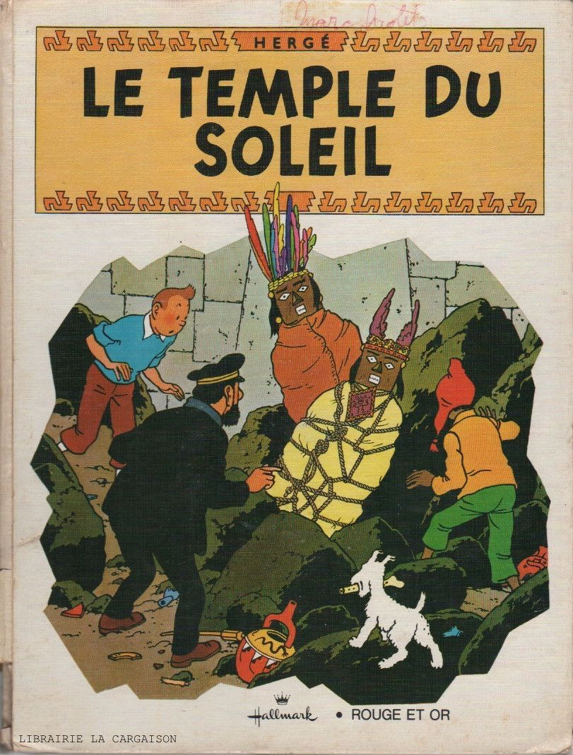 Tintin Pop Hop Un Livre Anime Tintin Le Temple Du