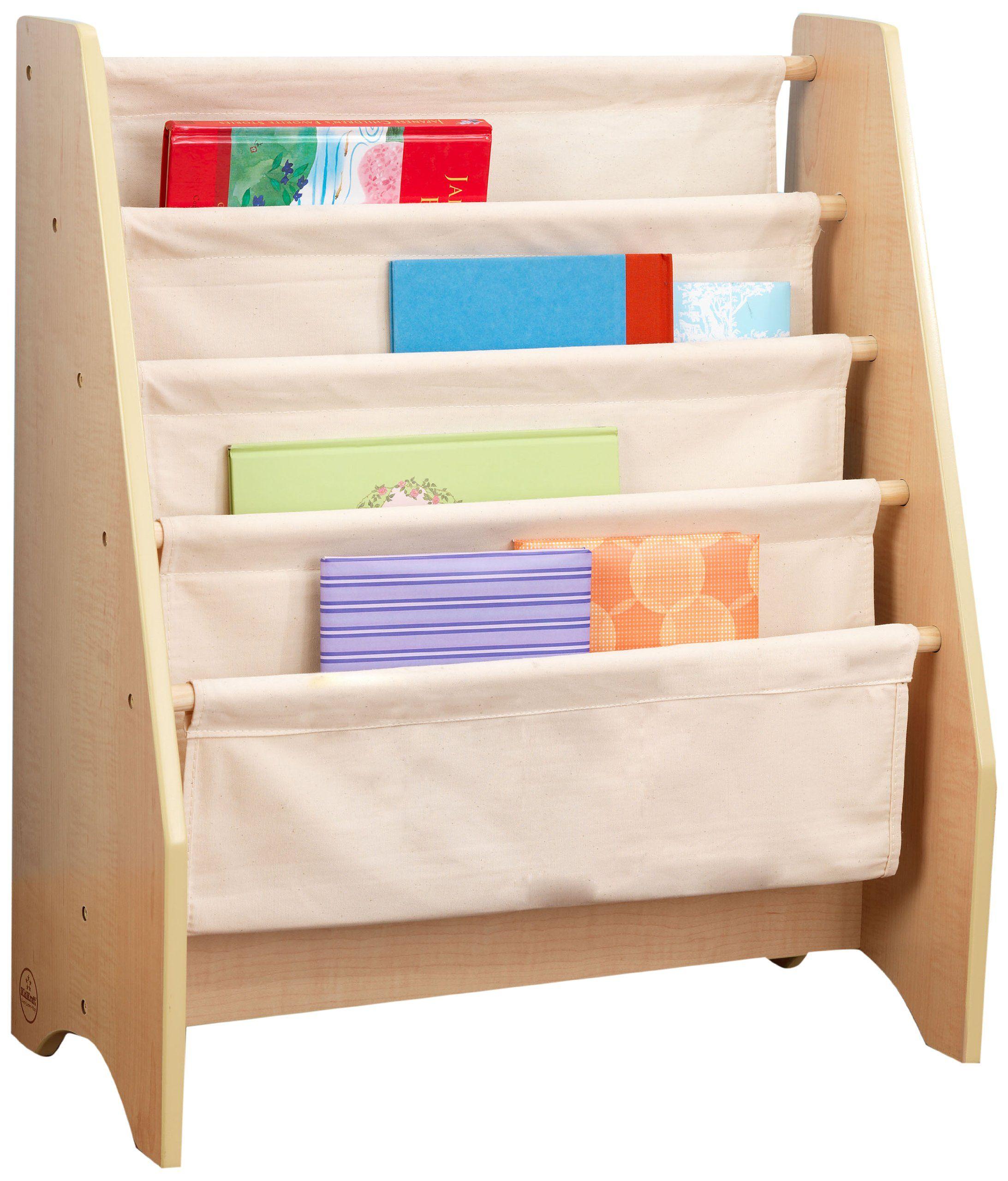 Librerie Per Camerette Bambini kidkraft 14221 - libreria in legno e tessuto, in colori