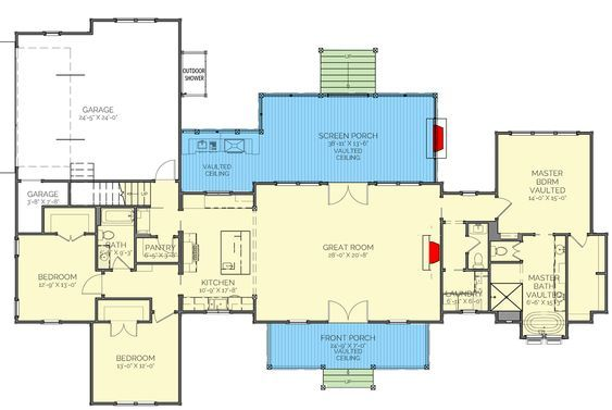 Plan 130026lls Split Bed Exclusive Farmhouse Plan With