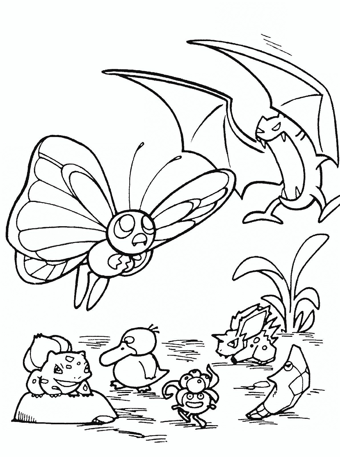 Butterfree Coloring Pages Pokemon Coloring Pages Pokemon Coloring Star Coloring Pages