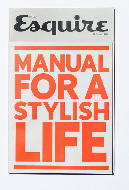 Esquire zine – Manual For A Stylish Life by SeptemberIndustry, via Flickr