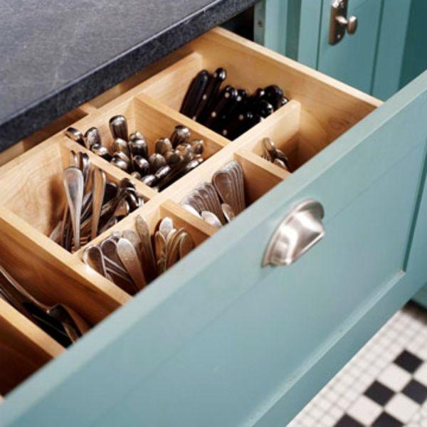 57 praktische Ideen für die Organization der Küchenschubladen ...