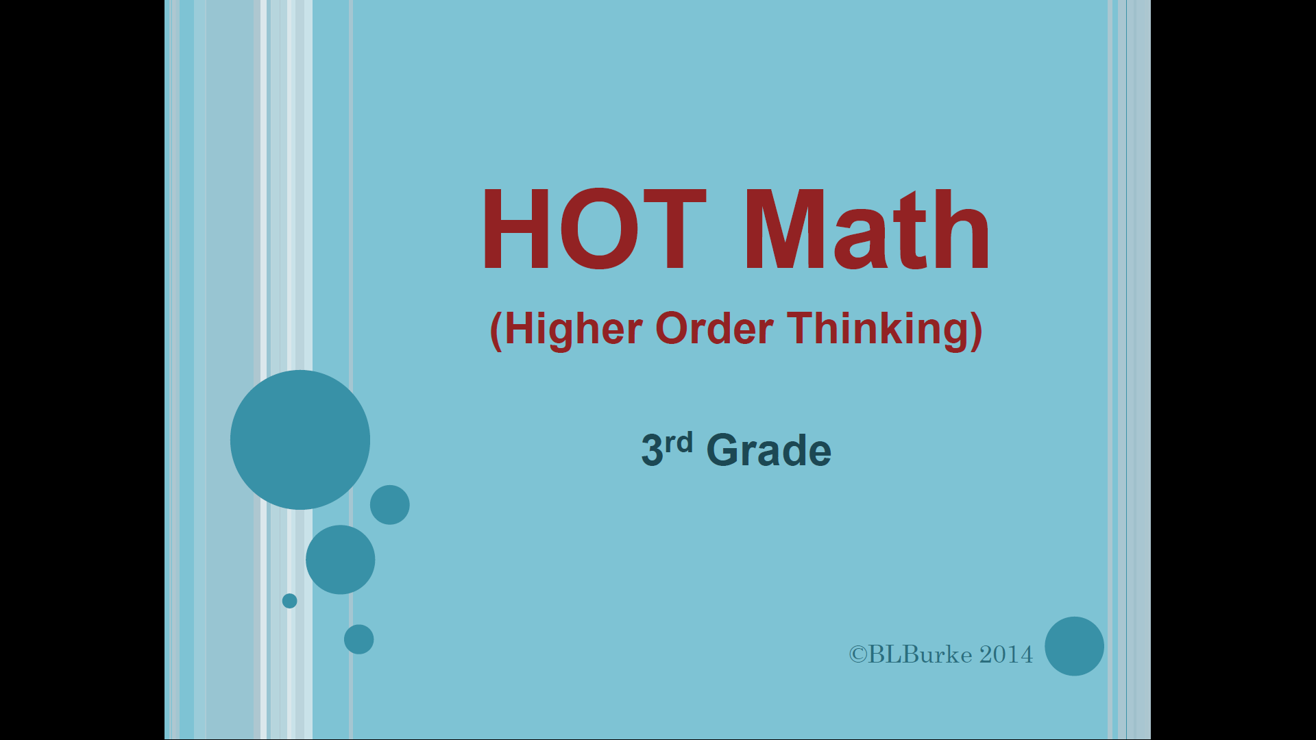 Higher Order Thinking Daily Math Warm Up 3rd Grade From