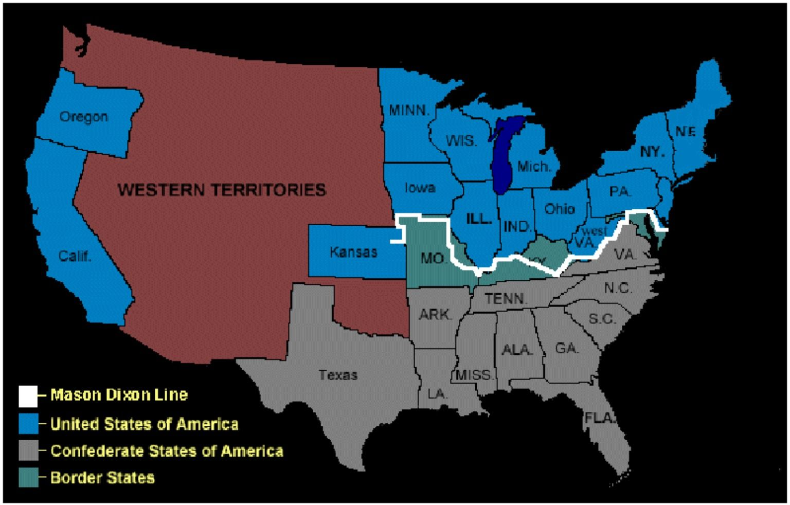 Mason Dixon Line | South Of The line | America civil war, Teaching ...