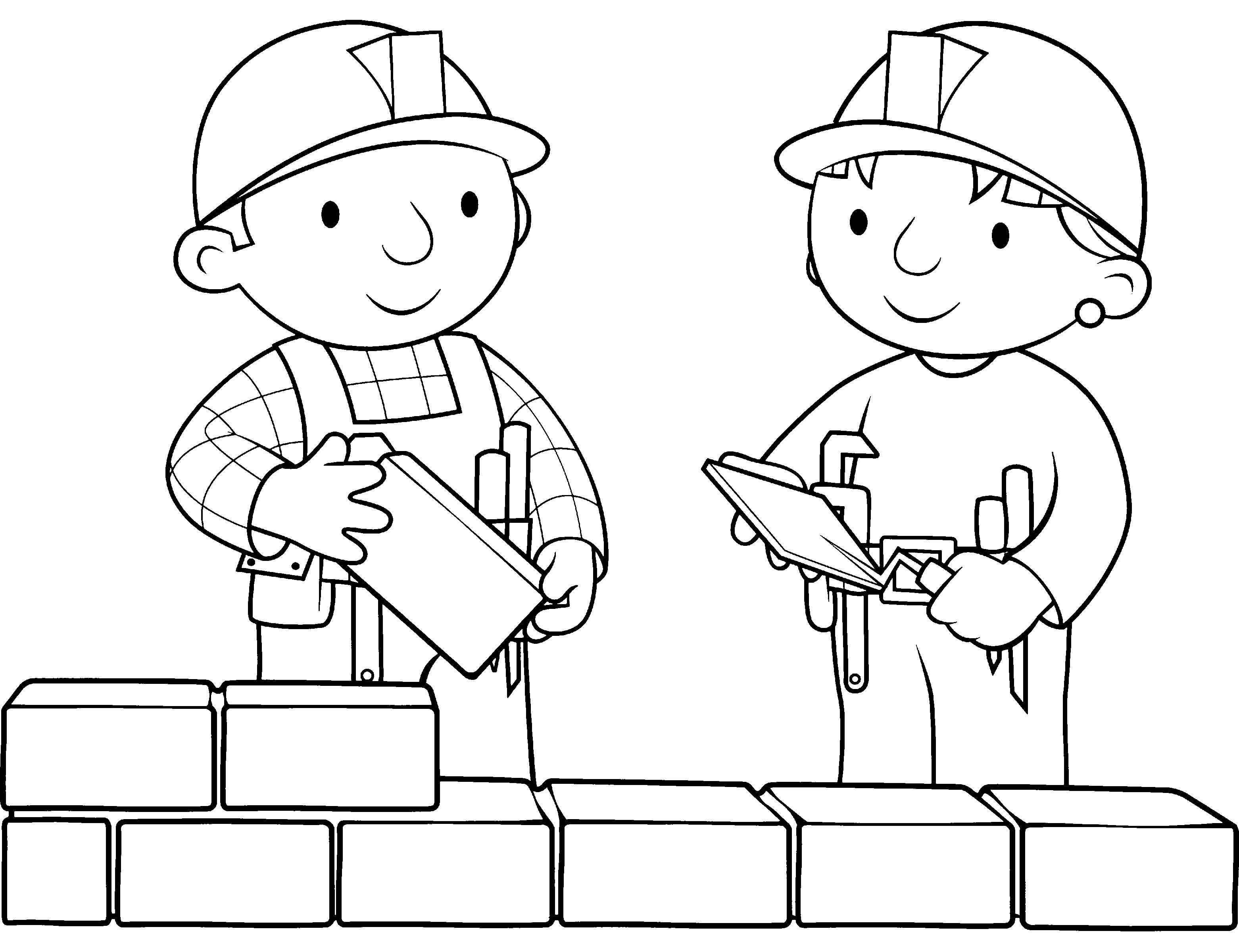 builder coloring pages - Google Search | Preschool Children ...