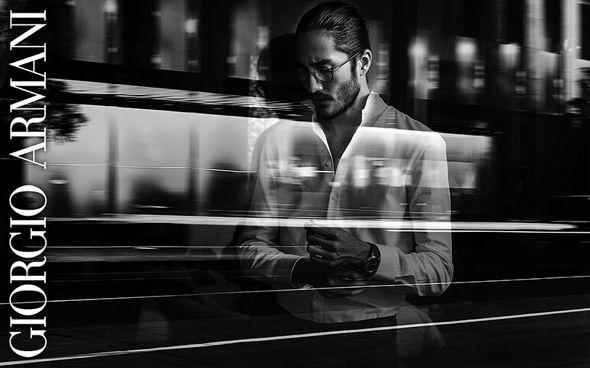 c3a79a21c1789 Tony Thornburg by Serge Guerand l Giorgio Armani SS 2014 l  framesoflife   opticals