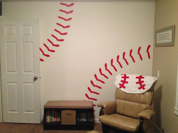 Bon This Decal Is Perfect For Childrens Rooms Andu0026 Baseball Themed Rooms!  Included Are 32 Stitches, Each Stitch Measuring 11 X These Decals Are Made  Out Of ...