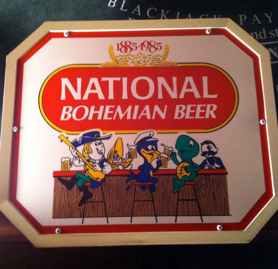 91808812b National Bohemian Beer 1985 Character Light Natty Boh Bohemian Beer, Vintage  Beer Signs, Natty